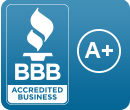 Better Business Bureau Accredited Business with an A+ rating